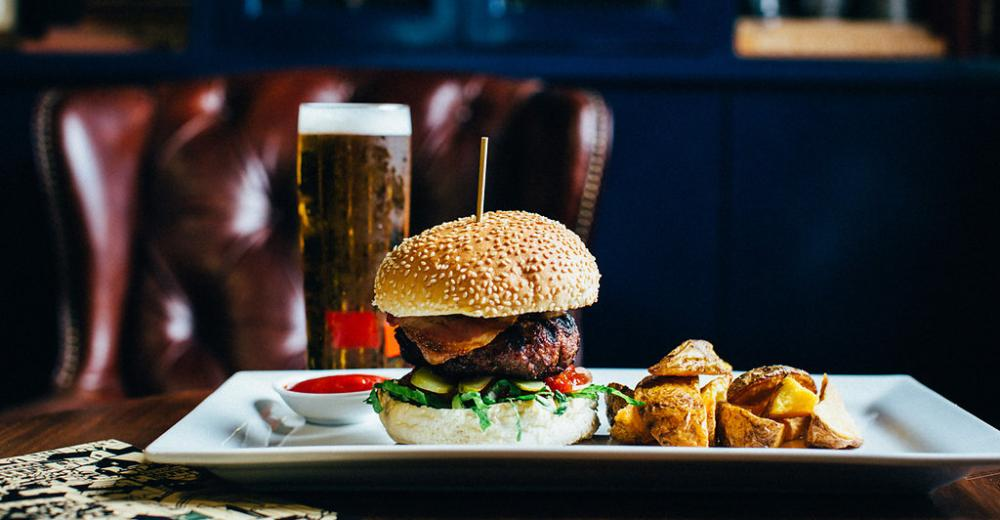 Burger and Beer Photo